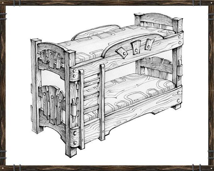 Кровать под старину своими руками чертежи